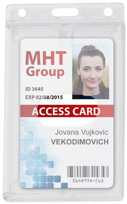 Vertical Abs Access Card Dispenser