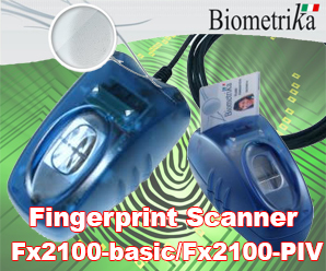 Fingerprint Scanners Biometrika Fx2100-basic and Fx2100-PIV