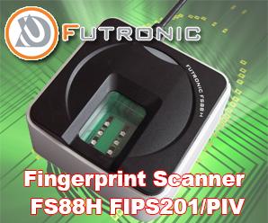 Fingerprint Scanner Futronic FS88H FIPS201/PIV